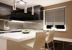 Rolety materiałowe kuchnia